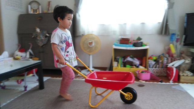 出来上がった、一輪車