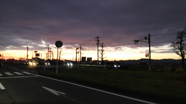 豊橋付近の夕焼け