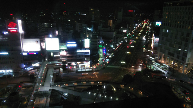 豊橋のアソシアから見える夜景