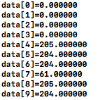 読み込んだデータ表示結果1