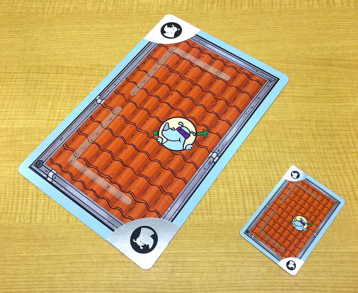 キャプテン・リノ巨大版(第二版):カードの銀箔押し加工