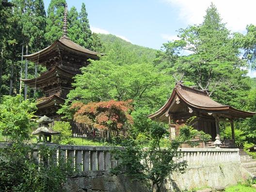 新海三社神社東本社と三重塔