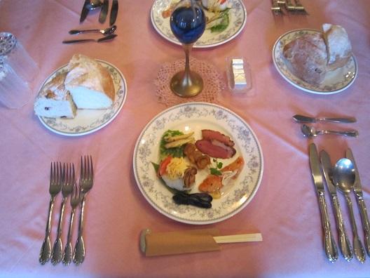 コットンスノー夕食