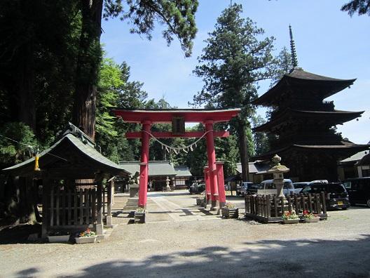 若一王子神社鳥居と三重塔