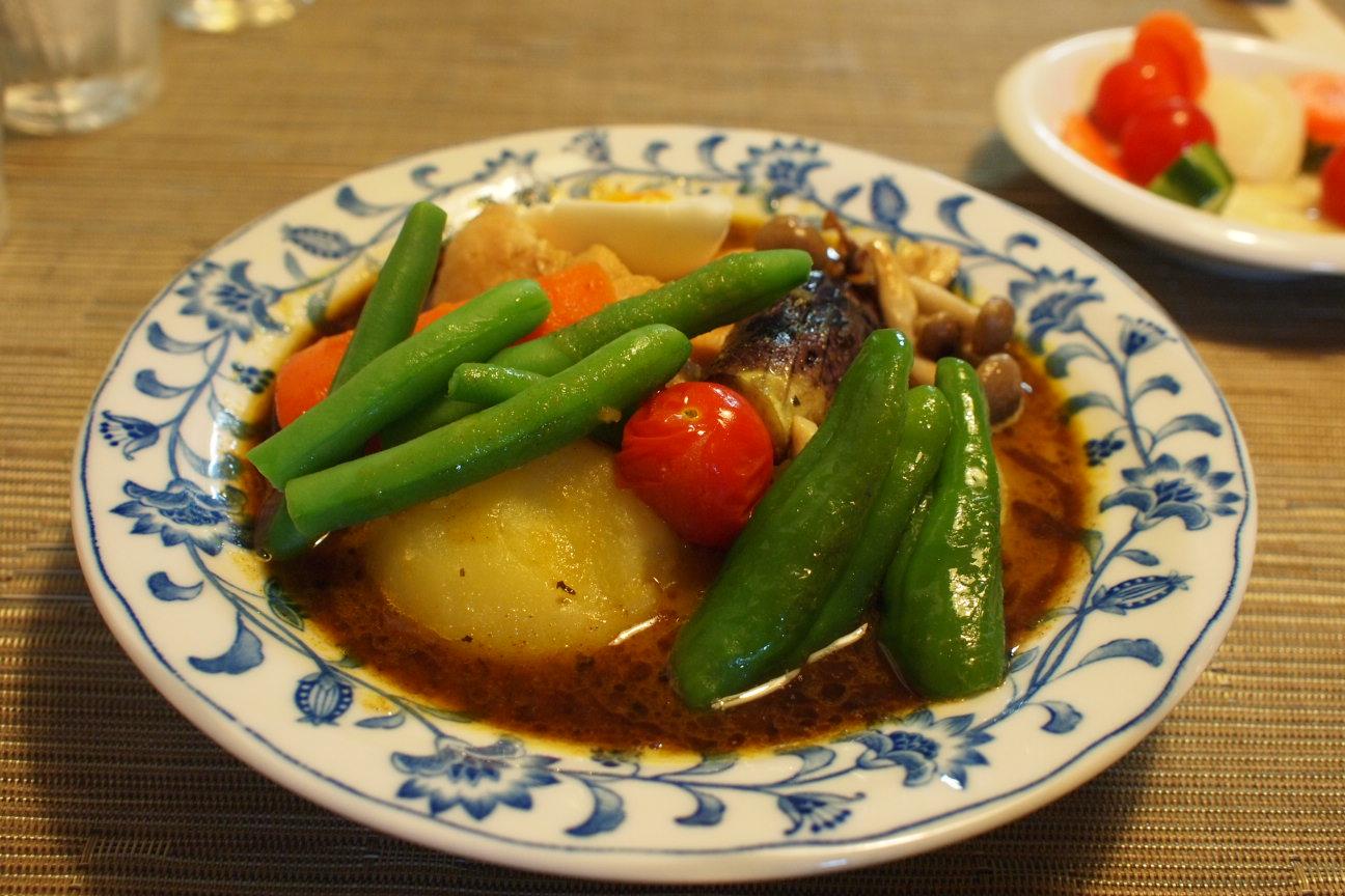 野菜山盛りスープカレー