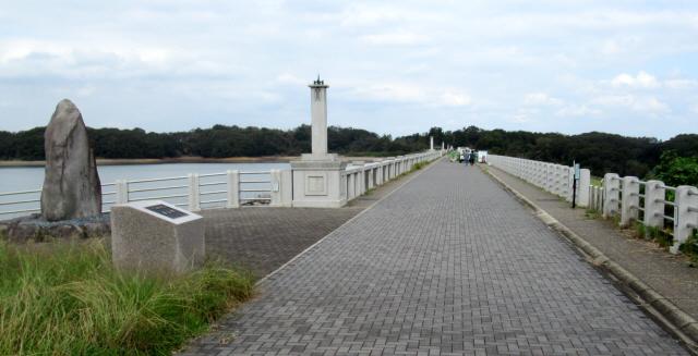 狭山湖の吊橋6