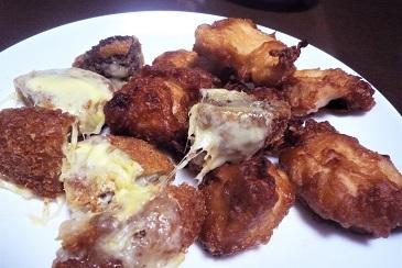 鶏唐揚とメンチ