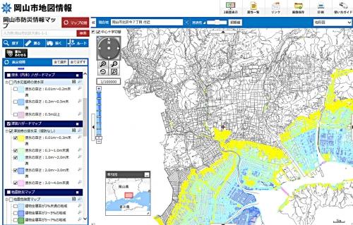 岡山市津波ハザードマップ301014