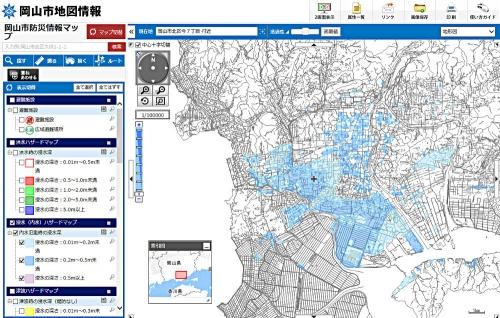 岡山市内水ハザードマップ301014
