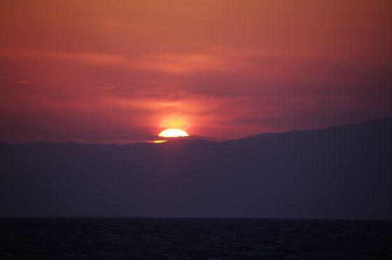 2014/12/31 湘南 茅ヶ崎の海 大晦日 終(つい)の日の入り