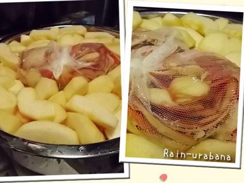 リンゴのコンポートを作る事にしました♪