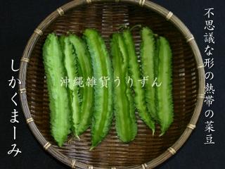 南国の変わった形の豆シカクマメ